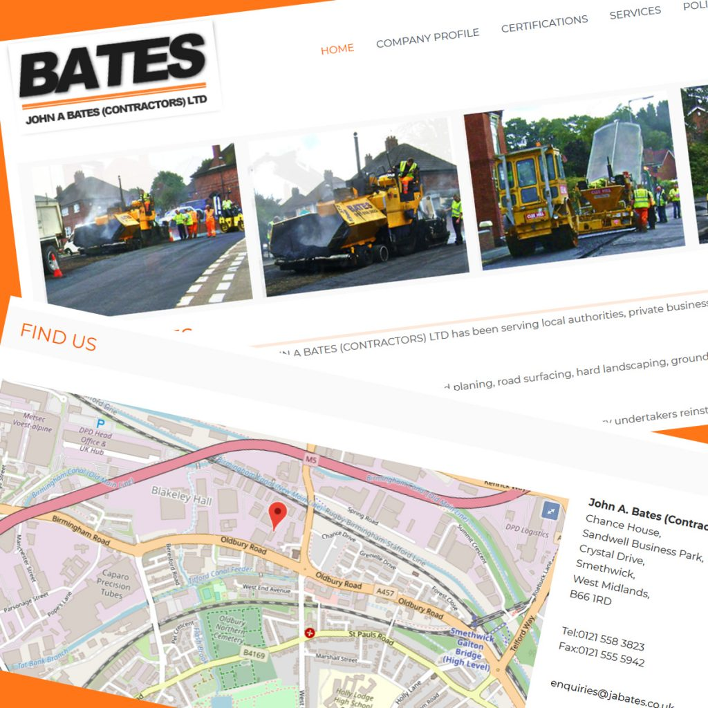 Portfolio - JA Bates - WordPress Development services