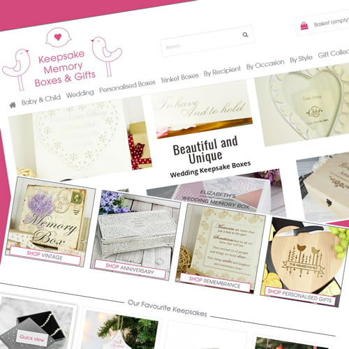Prestashop 1.6 Design and Development for Keepsakememoryboxes Shop