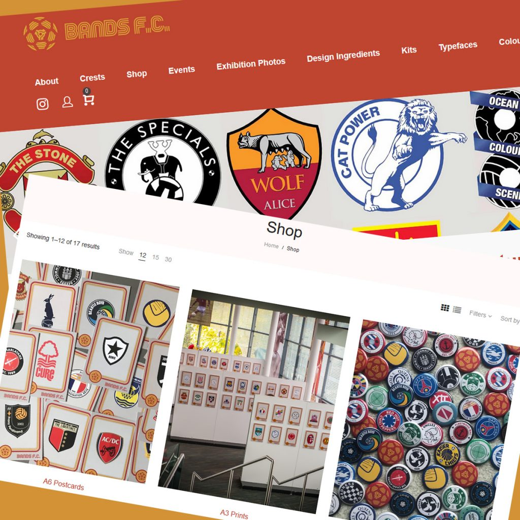 WooCommerce development services for Bands FC website