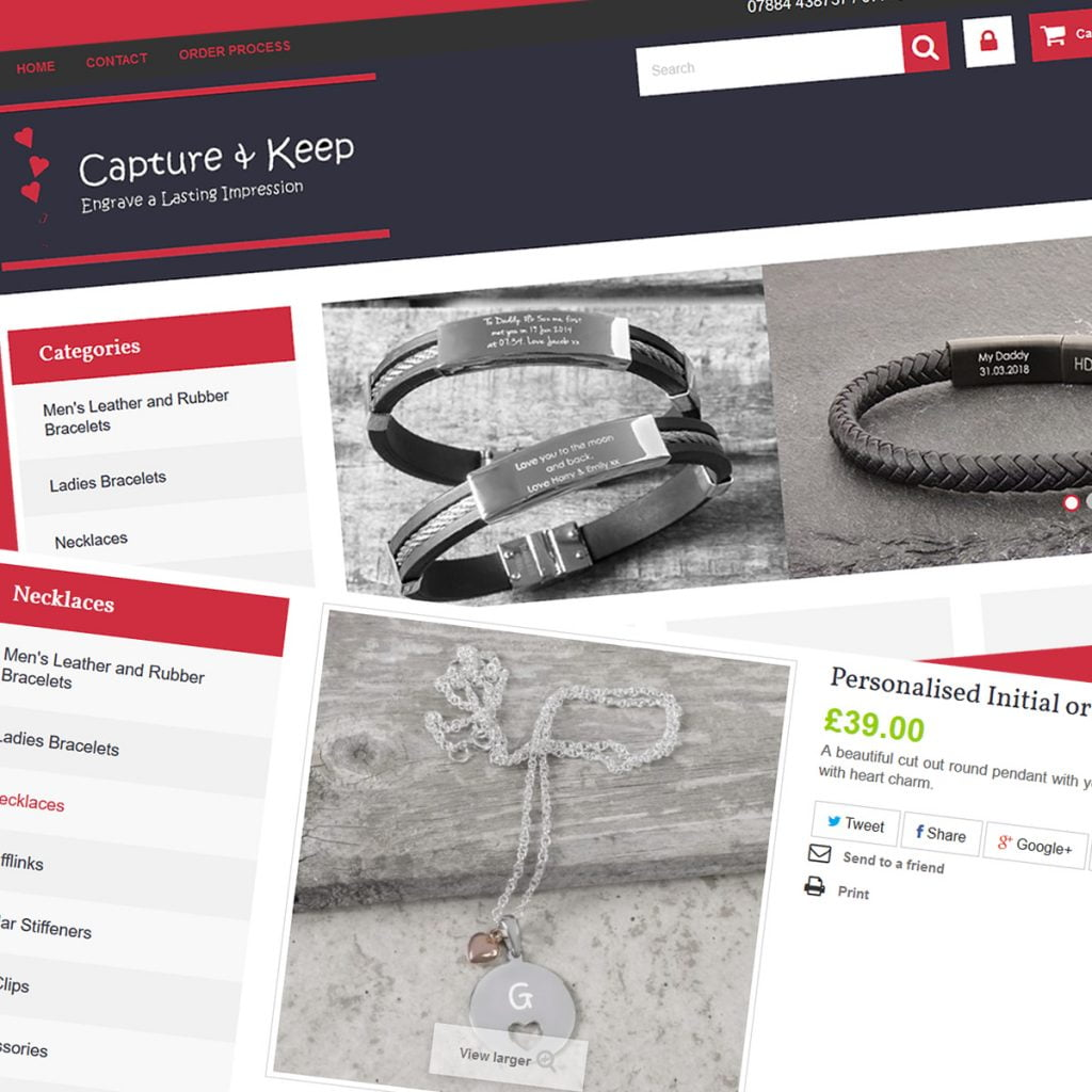 eCentury developed the prestashop ecommerce site captureandkeep