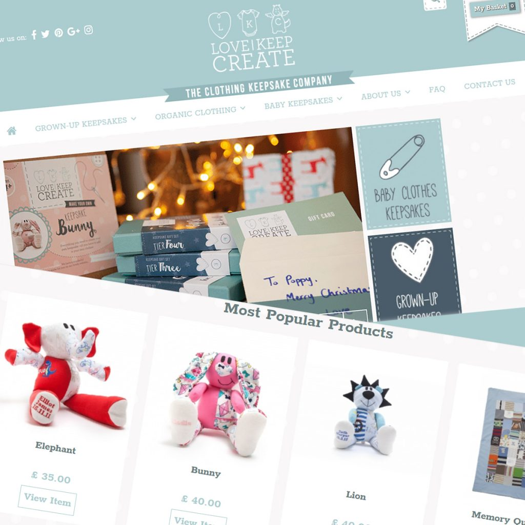 eCommerce Support services for the Prestashop based Love Keep Create Website - as featured on Dragons Den