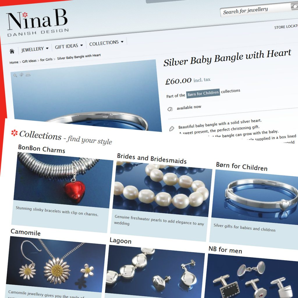 Prestashop support and development services for the Nina B eCommerce Website