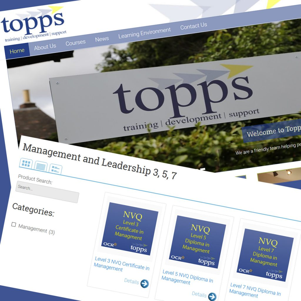 Topps Training WordPress Front Page