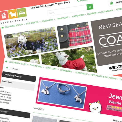 Prestashop Development services for WestieGifts eCommerce Website based in the UK