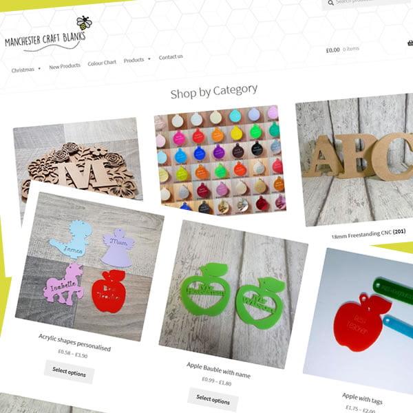 Portfolio Manchester Craft Blanks ecommerce design