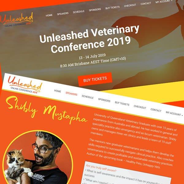 Unleashed conference portfolio woocommerce UK design