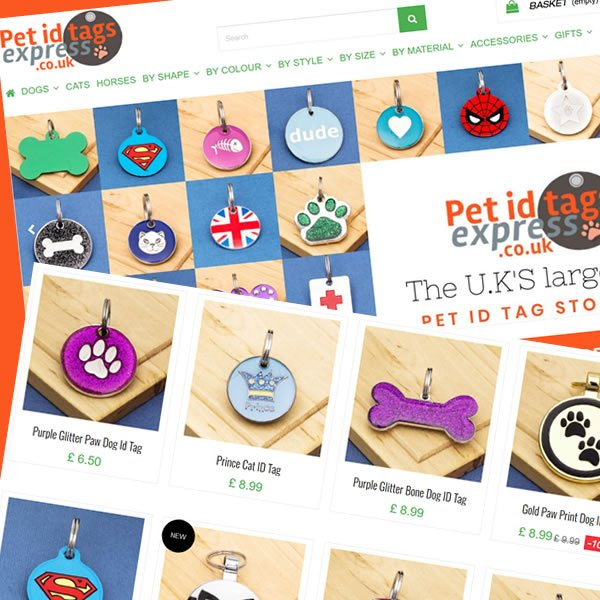 Portfolio of pet id tags express - prestashop Frontpage